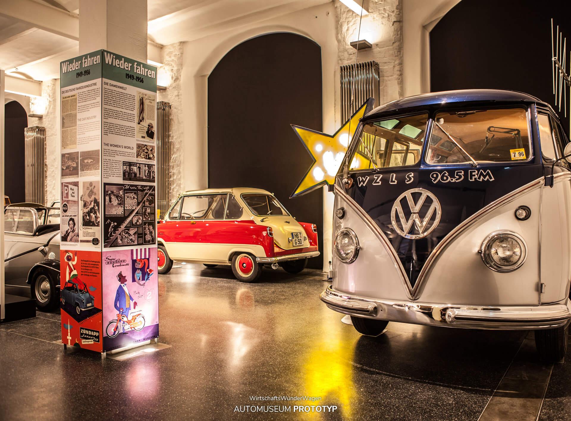2012/2013 zeigte das Hamburger Automuseum Prototyp in der Sonderausstellung WirtschaftsWunderWagen unter anderen einen 1956er VW Bulli T1 Samba-Bus, der als Radio-Sendestation in den USA unterwegs war. Er stand neben einem zweifarbig lackierten Zündapp Janus von 1958. Im Hintergrund stand der originale Star Club-Stern.